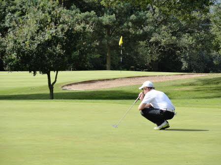 Lining up the putt